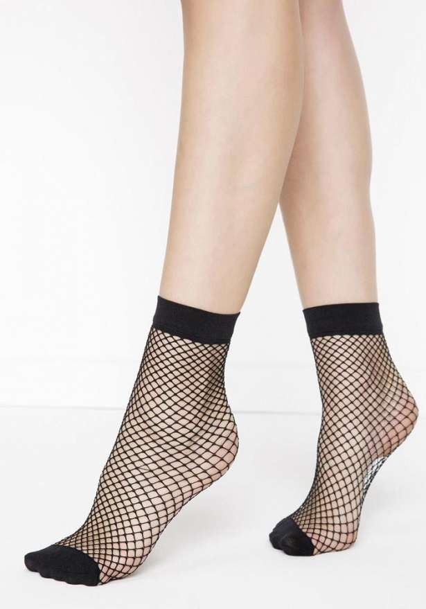 Ankle Lace Socks In Black