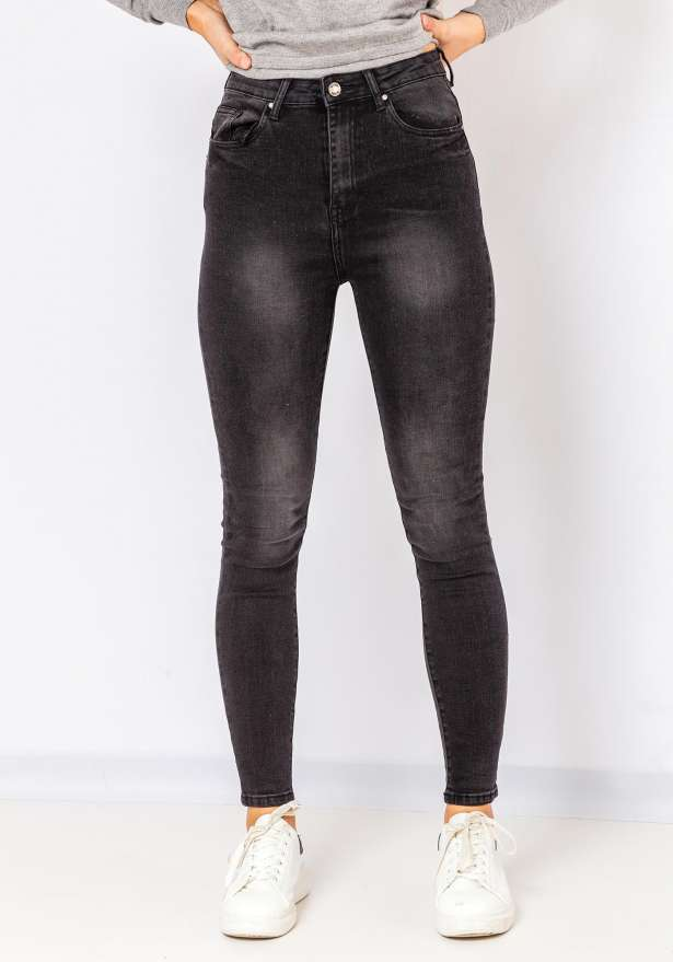 Karina Skinny Denim Jeans In Black