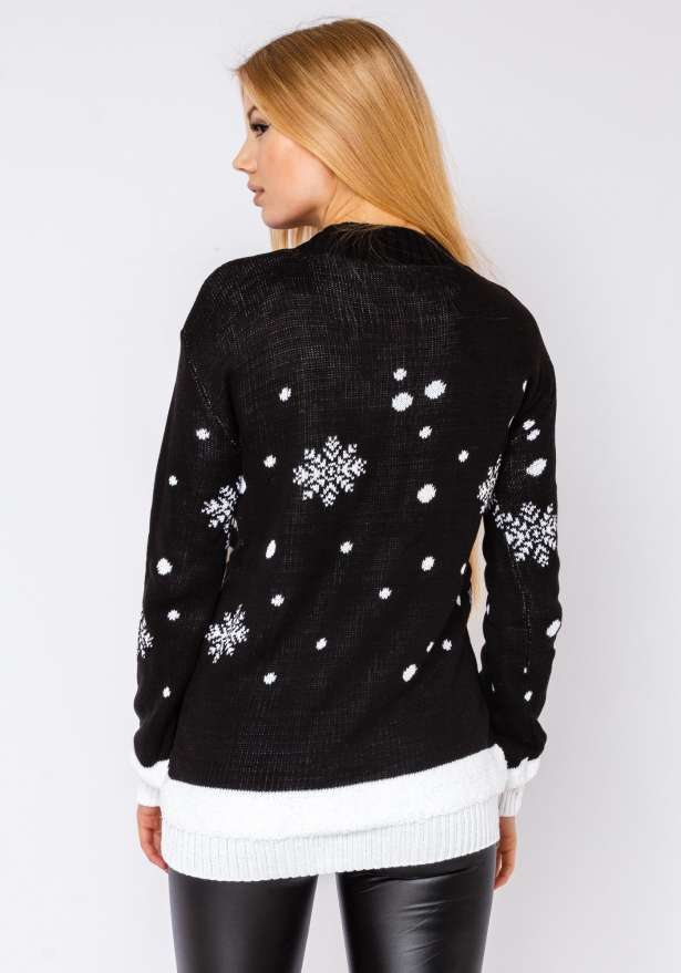 Merry Xmas Sweater In Black