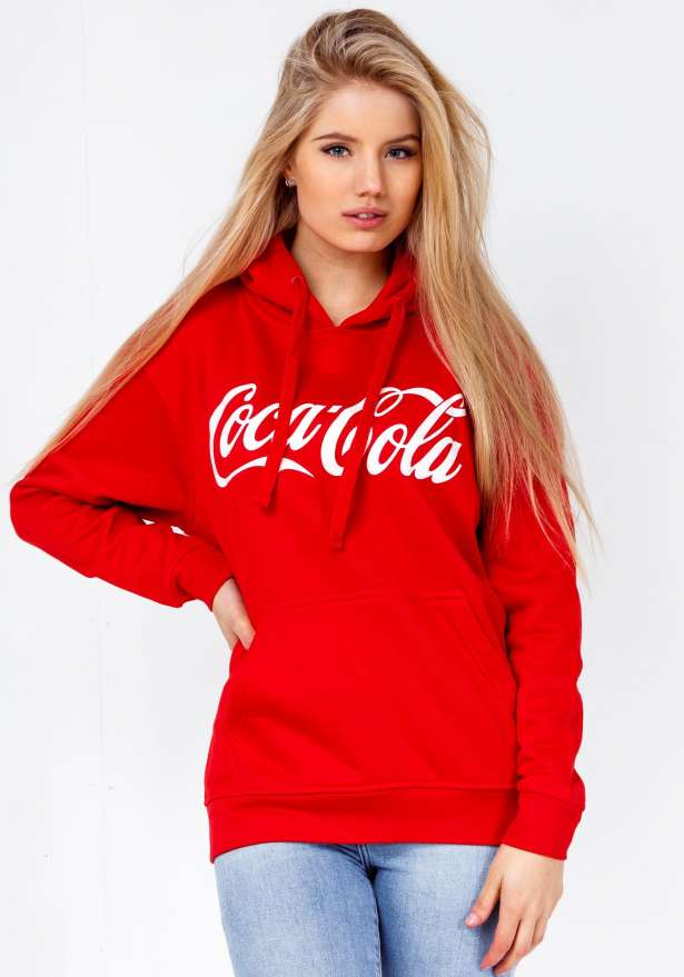Coca Cola Hoodie In Red