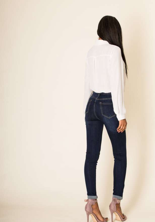 Stretch High Waisted Denim Jeans