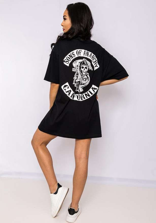 Sons Of Anarchy Boyfriend Tee In Black
